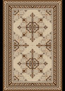 Oriental pattern for light carpet with beige and brown shades design on a black background Stock Images