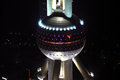 Oriental pearl tower shanghai at night china Royalty Free Stock Images