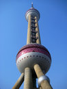 Oriental pearl tv tower the is a landmark of shanghai china it is the world s third tallest and radio Royalty Free Stock Images
