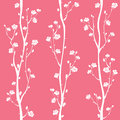 Oriental plum blossom seamless pattern Royalty Free Stock Photo