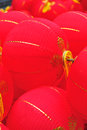 Oriental red lanterns celebrate traditional holidays Stock Photo