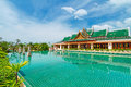 Oriental resort on sunny day Stock Image