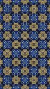 Oriental seamless geometric pattern.grid seamless floral pattern and graphic design print lines pattern.