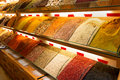 Oriental spices at the grand bazaar in istanbul turkey Stock Images