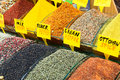 Oriental spices the grand bazaar istanbul turkey Royalty Free Stock Photography