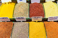 Oriental spices the grand bazaar istanbul turkey Stock Photography