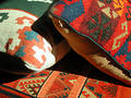 Oriental style cushions Royalty Free Stock Photo