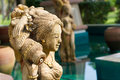 Oriental style fountain statues Stock Photos