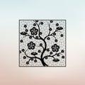 Oriental style pattern plum blossom, cherry blossom Royalty Free Stock Photo