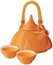 Oriental style tea set Royalty Free Stock Photo