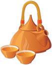 Oriental style tea set Stock Images