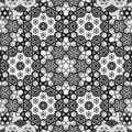 Oriental symmetrical kaleidoscope fractal intensity map Royalty Free Stock Photo
