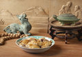 Oriental table setting Royalty Free Stock Photo