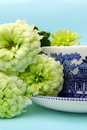 Oriental tea cup and saucer with flowers Royalty Free Stock Photo