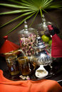 Oriental tea service Royalty Free Stock Photo