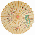 Oriental umbrella isolated Royalty Free Stock Photo