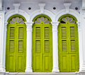 Oriental windows found in penang Royalty Free Stock Photo
