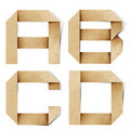 Origami alphabet letters recycled paper craft Royalty Free Stock Photo