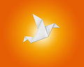 Origami bird made of paper Royalty Free Stock Photo