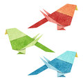 Origami Bird  Recycle Papercraft Stock Images