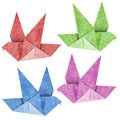 Origami Bird  Recycled Papercraft Royalty Free Stock Photo