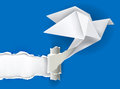 Origami Bird Ripping Paper.