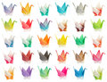 Origami birds chart Stock Photos