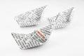 Origami boats, innovation idea