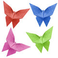 Origami butterfly  Recycle Papercraft Stock Photos