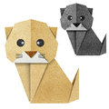 Origami cat Recycled Papercraft Royalty Free Stock Photos