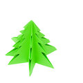 Origami Christmas tree, Royalty Free Stock Photo