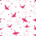 Origami Cranes In Love On The ...