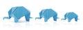 Origami elephant family Royalty Free Stock Photo
