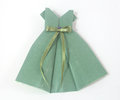 Origami frock handmade with paper Royalty Free Stock Images