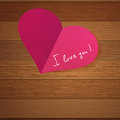 Origami heart on wooden with copy-space.  + EPS8 Stock Image