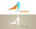 Origami Human Social Icon Royalty Free Stock Photo