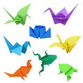 Origami images Royalty Free Stock Photo