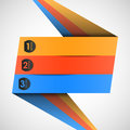 Origami label (options) for your text, vector Royalty Free Stock Photos