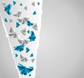 Origami paper background is transformed to butterflies Royalty Free Stock Photography