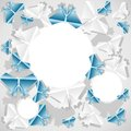 Origami paper background is transformed to butterflies Stock Photography