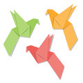 Origami paper bird on white background Royalty Free Stock Images