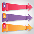 Origami paper colorful arrows with numbers Stock Photography