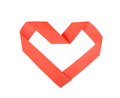 Origami paper heart shape symbol for valentines day Royalty Free Stock Photography