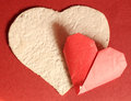 Origami paper hearts Royalty Free Stock Photo