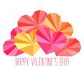 Origami paper hearts composition Royalty Free Stock Photo