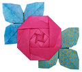 Origami paper pink rose Royalty Free Stock Photo