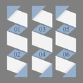 Origami paper vertical numbered banners Stock Image