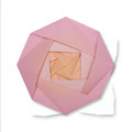 Origami paper yellow pink rose Royalty Free Stock Photo