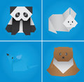 Origami set five Royalty Free Stock Photography