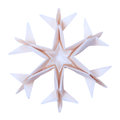 Origami snowflake paper fragility christmas winter cold blue on a white background Royalty Free Stock Images